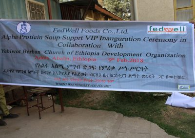 FedWell Alpha Protien Soup Support VIP Inauguration Ceremony in Collaboration with Yehiwot Berhan Church of Ethiopia and Welfare Organization YBCEDO (1)